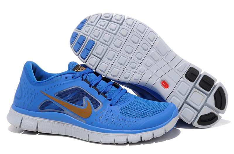 free shipping 2ebe9 ea82f Nike Free Run +3 Homme femme 2016 V4 Homme Chaussures Noir Royal Nike Free  Run